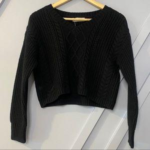 Treasure and Bond knit crop sweater cozy trendy